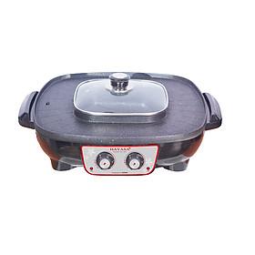 Chảo lẩu điện đa năng 2 in 1 (HA-688) - Hàng Chính Hãng