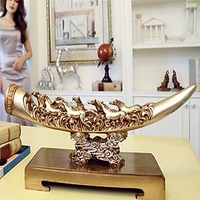 Decor trang trí - tượng ngà voi bát mã