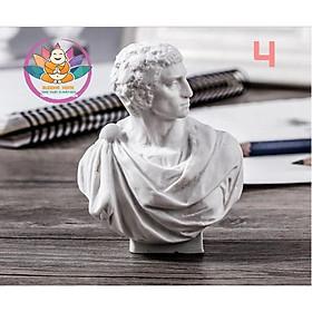 Đầu tượng bán thân mini nhựa thạch cao trang trí- SET B
