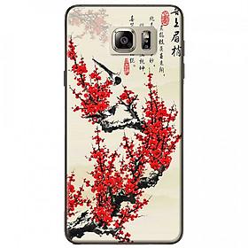 Ốp lưng dành cho Samsung Galaxy Note 5 mẫu Hoa đào đỏ thư pháp