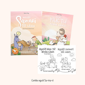 Combo Người Samari (song ngữ) - 2 Truyện Tranh Kinh Thánh Thiếu Nhi Công Giáo và 2 truyện tranh Kinh Thánh tô màu