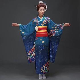 Trang Phục Yukata Nữ Kimono Nữ Cao Cấp Phù Hợp Với Các Chương Trình Giao Lưu Văn Hóa Quốc Tế, Sự Kiện, Khai Trương Đầy Đủ Phụ Kiện Đi Kèm