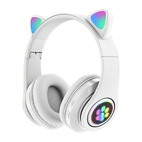 Tai Nghe Không Dây Bluetooth Chụp Tai Mèo Wireless HXZ  Đèn LED Cao Cấp - DT075