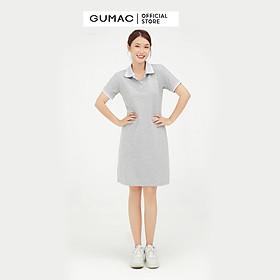Đầm polo nữ thêu positive dễ thương GUMAC DA1007 đủ size đủ màu