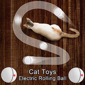 Con Chó Mèo LED Laser Ánh Sáng Đỏ Bóng Lăn Điện Tử Đồ Chơi Hoàn Hảo Giữ Cho Thú Cưng Của Bạn Bận Rộn Con Mèo Tương Tác L