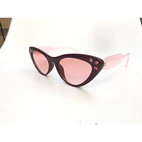 Kính râm nữ dáng mắt mèo thời trang, hiện đại, cá tính KM-3323- hồng