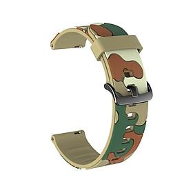 Dây Cao Su Camo cho Galaxy Watch 3 41mm 45mm / Galaxy Watch Active 2 40mm 44mm (Dây Size 20mm và 22mm)