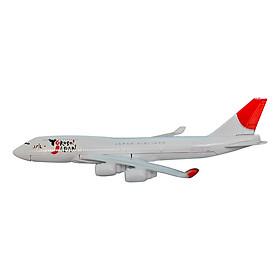 Mô Hình Máy Bay Trưng Bày Boeing 747 Japan Airlines Everfly (Trắng)