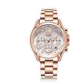 Đồng hồ nữ GEDI chính hãng YH2986 mạ vàng hồng, có lịch ngày - Hàng chính hãng