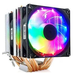 Quạt tản nhiệt CPU máy tính Led 6 ống đồng Coolmoon MX6 - hàng nhập khẩu
