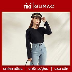 Áo thun nữ thiết kế tay dài ATA1196 GUMAC chất liệu thun dẻo thoáng mát và tôn dáng