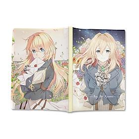 Sổ tay bìa dẻo hình Anime Violet Evergarden - Búp Bê Ký Ức - Khu Vườn Sắc Tím Năm Ấy