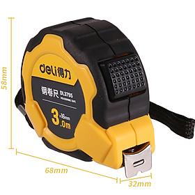 Thước cuộn thép cao cấp 3mx16mm Deli DL3795