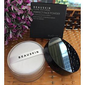 Phấn phủ bột Beauskin Perfect Face Powder Hàn Quốc 30g #21 Natural Beige tặng kèm móc khoá-9