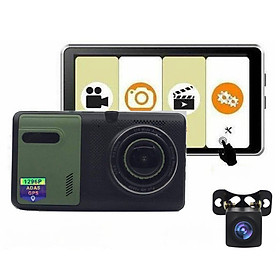 Camera Hành Trình H5 Full HD 1296P Camera Lùi Dây Dài 15m Tích Hợp GPS - Có Hỗ Trợ Tiếng Việt