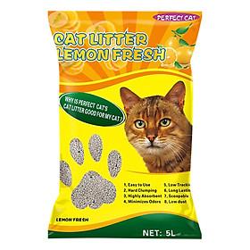 Cát Vệ Sinh Cho Mèo Hương Chanh - Perfect Cat 5 Lít