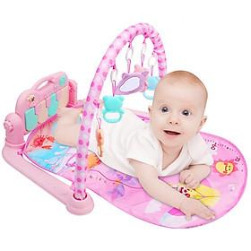 Thảm nằm có nhạc và đồ chơi cho bé ( tặng kèm 1 sản phẩm ngẫu nhiên)