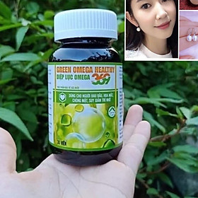Thực phẩm bảo vệ sức khỏe Green Omega Heathy Diệp Lục Omega 3,6,9 ( 30 viên) + Tặng hoa tai ngọc trai cực xinh