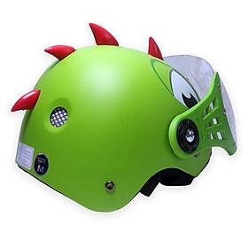 Mũ nón bảo hiểm cho bé trẻ nhỏ kiểu dáng Khủng Long có kính bảo vệ mắt - NHK-NBHKL-XALA