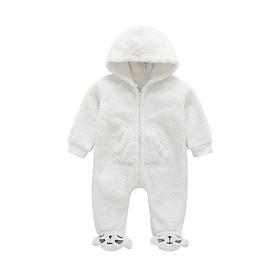 Baby Newborn Rompers Sleeping Bag Winter Cotton Children Velvet Coral Baby Girls Jumpsuits Boy Sleeping Clothes Baby Bear Cart