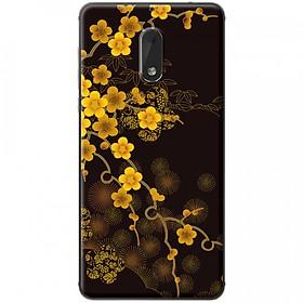 Hình đại diện sản phẩm Ốp lưng dành cho Nokia 6 mẫu Hoa mai nền đen