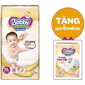 Tã Quần Cao Cấp Bobby Extra Soft Dry XL50 (50 Miếng) - Tặng Gói 6 Miếng ESD
