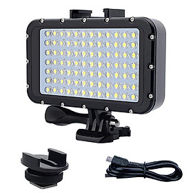 84 LED High Power Dimmable Waterproof LED Video Light Waterproof 164ft(50m) Underwater Lights Dive Light for Gopro Canon Nikon Pentax Panasonic Sony Samsung SLR Cameras