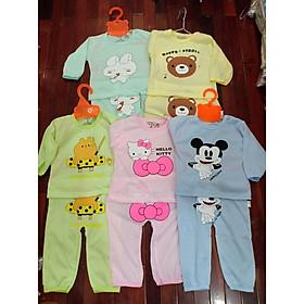 Set 5 bộ quần áo dài tay chất cotton cho bé