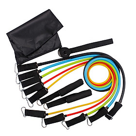 11pcs Fitness Puller Set Resistance Belt Kit Multifunctional Exercise Elastics Tubes for Training Gym Bodybuilding Sport-3