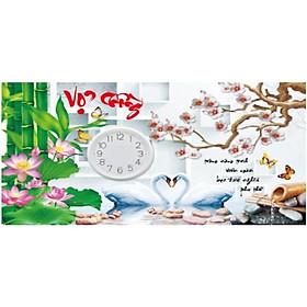 Tranh Đính Đá Đồng Hồ Vợ Chồng ( Chưa Đính) - YN5363