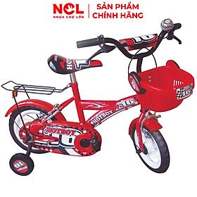 Xe đạp trẻ em Nhựa Chợ Lớn 14 inch K72 - M1392-X2B, Sườn xe bằng sắt chịu lực, Nhựa chính phẩm an toàn, Sản xuất tại Việt Nam - Hàng chính hãng