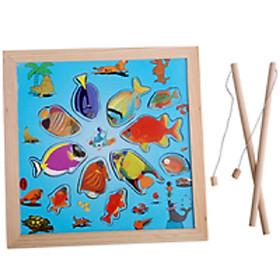Bảng câu cá nam châm gỗ
