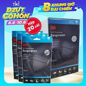 Khẩu trang 3M KF94 9013 Hộp 20 cái - Lọc bụi mịn PM2.5, kháng khuẩn (màu đen)