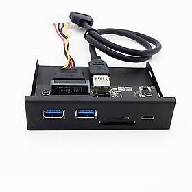 Đầu Đọc Thẻ Media PC 33S50-RTK (Type-C/ USB 3.0 Hub)