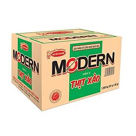 Thùng 24 Ly Mì Modern Hương Vị Thịt Xào (65g/Ly)