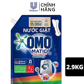 Nước giặt OMO Matic chuyên dụng Cửa Trước Bền Màu với tinh chất Lựu Tre 2.9kg