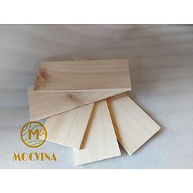 Combo 5 tấm gỗ thông mới đẹp dài 30cm, rộng 12cm, dày 1cm bào láng đẹp 4 mặt thích hợp trang trí, làm kệ, DIY Mộc Vina
