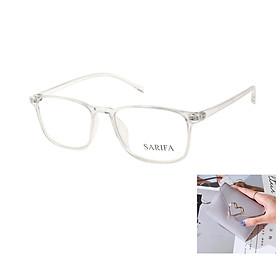 Gọng kính, mắt kính chính hãng SARIFA LD2441 C5 (52-17-142) - Tặng 1 ví cầm tay (màu ngẫu nhiên)