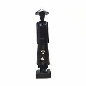 Tượng Gỗ Miss Việt Nam - Cao 30cm - Gỗ Đen