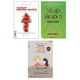 Combo Trọn Bộ Kỹ Năng Phỏng Vấn 1 (Tư Duy Doanh Nhân Hành Động Lãnh Đạo + Thôi Miên Bằng Ngôn Từ + Tự Học Tiếng Anh Cấp Tốc Cho Người Mới Bắt Đầu) tặng kèm bookmark
