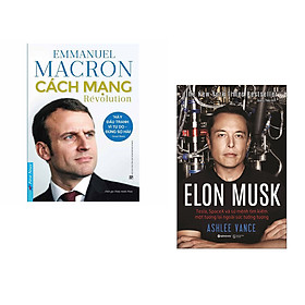 Combo 2 cuốn sách: Emmanuel Macron - Cách Mạng + Elon Musk (Bìa Cứng)