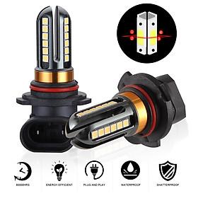 2pcs/set 9005 72W 12V High Brightness White LED Fog Lamp 6000K 24SMD Automobile LED Anti-fog Bubble