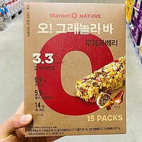 MarketO O Granola Bar Fig Berry 15P