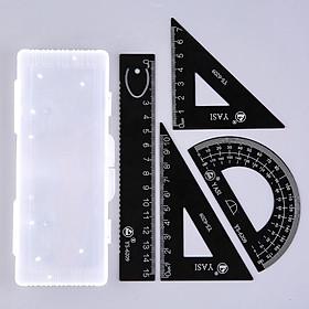 Bộ 4 thước đo đa năng bằng hợp kim nhôm tiện lợi YS-6209