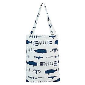 Túi Tote Nữ Cá Heo XinhStore TVBM_06 (41 x 30 cm) - Trắng