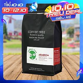 Cà phê bột Arabica Cầu Đất 500g nguyên chất 100% Coffee Tree thơm nồng, vị nhẹ, gu tây