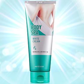 Kem dưỡng trắng da toàn thân Verobene BODY Spa White Cream Hàn quốc cao cấp 200ml/ Hộp Kèm 1 nơ xinh  ngẫu nhiên