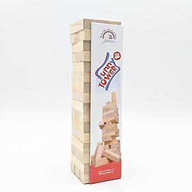 Boardgame đồ chơi rút gỗ Funny Tower 48 thanh cao cấp