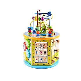 Đồ chơi gỗ - Hộp đa năng 8n1, tích hợp hoàn hảo cho bé phát triển kỹ năng toàn diện