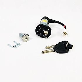 Bộ ổ khoá 8 cạnh gồm khóa yên và khóa xe cho Wave RSX loại 4 dây Green Networks Group